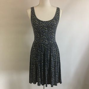 American Eagle Blue Floral Tank Dress S